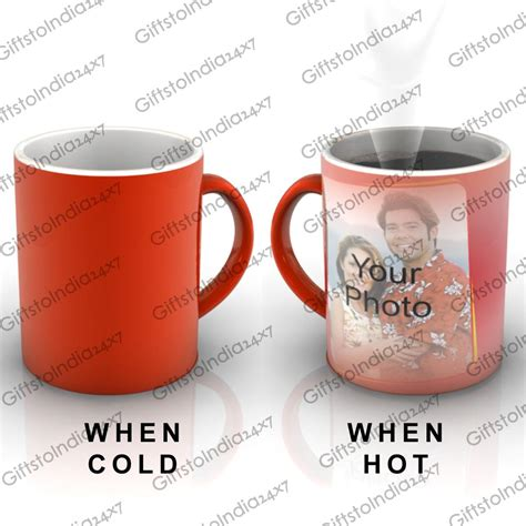 send personalized red magic mug to india gifts to india