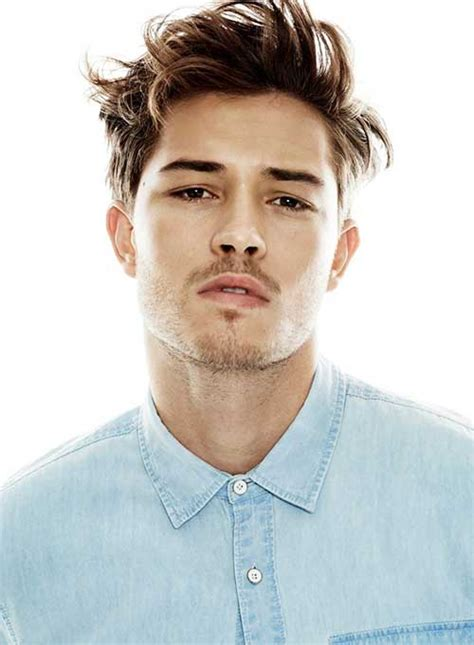 2015hear style men men messy brown color hair 2015 hairstyle men s style
