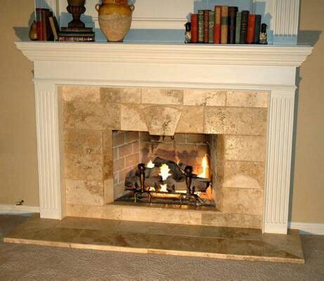 Marble And Travertine Hearth Fireplace Fireplaces Travertine Fireplace Hearth