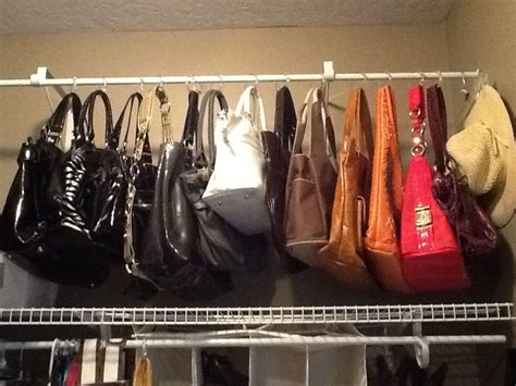 17 best ideas about organize purses on pinterest purse purses hanging on shower curtain rings our home