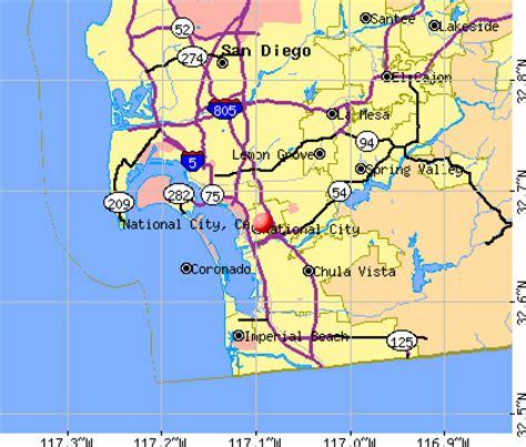 national city california map san diego california ca profile population maps real