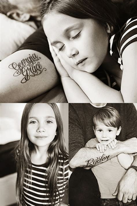 kid tattoos for dad 1000 ideas about family name tattoos on name