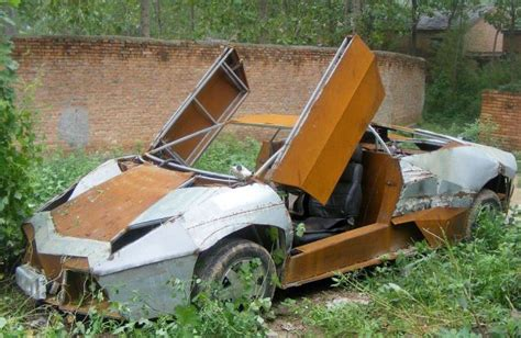 Home Design Blogs Chinese Farmer Builds Lamborghini Revention From Crap Metal