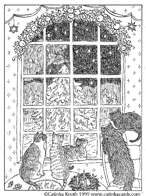 victorian christmas tree coloring page christmas coloring pages cards and poems by catinka knoth