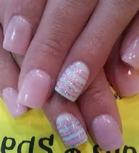 50 lovely pink and white nail art designs styletic