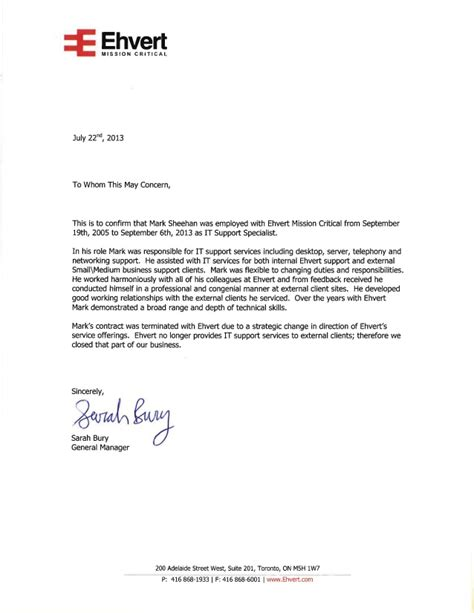 reference letter mark sheehan