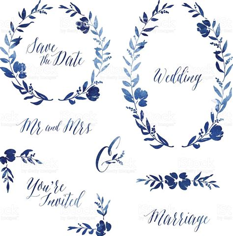 Wedding Invitation Design Elements by Watercolour Wedding Invitation Design Elements Stock