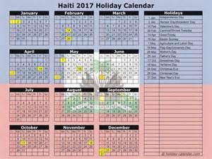 Haiti Calendã 2018 Haiti 2017 2018 Calendar
