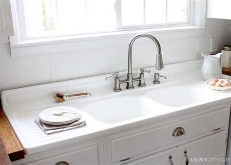 double drain board sink   Kitchen Ideas   Pinterest   Kitchen sinks, Old farmhouse kitchen and Sinks