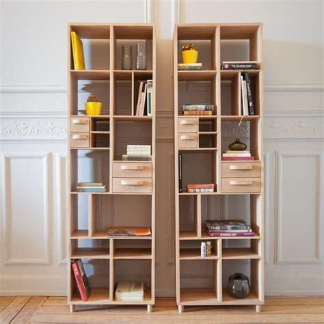 librerie con cassetti pirouette libreria ethnicraft in legno con 4 cassetti