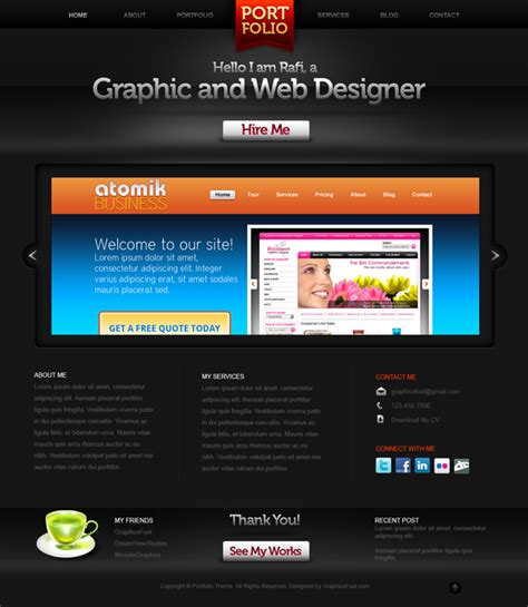 Creative Portfolio Website Psd Template Graphicsfuel Creative Portfolio Website Templates