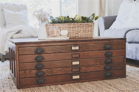 coffee table with cabinets repurposed blueprint cabinet coffee table grows