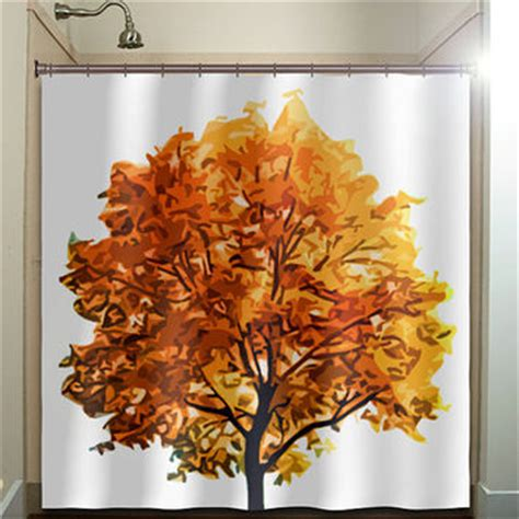 fall bathroom decor fall colors autumn tree shower curtain from tablishedworks on