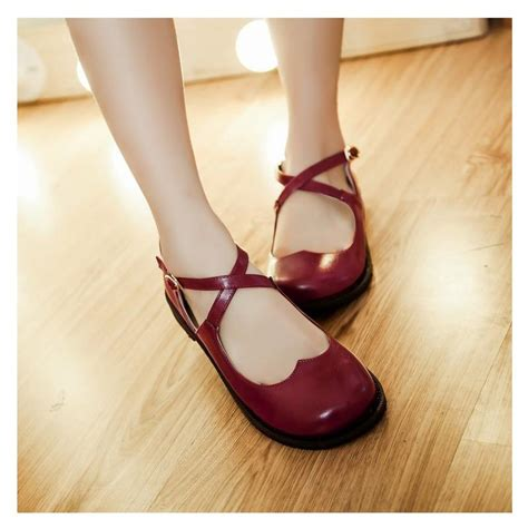 shoe type for flat shoes 2017 new japanese vintage toe
