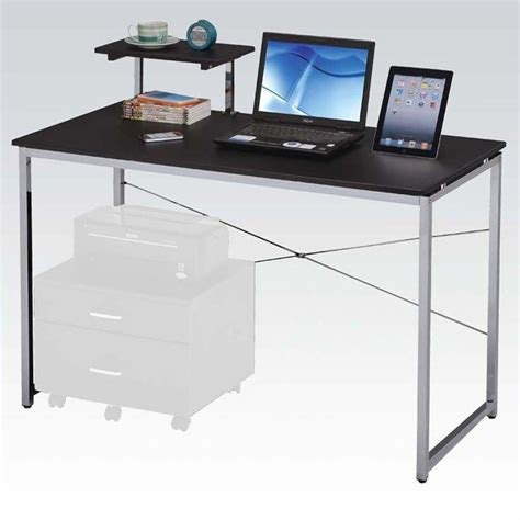 small glass top computer desk in black d31s29b
