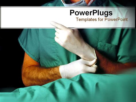 templates powerpoint surgery anonymous doctor putting on latex gloves powerpoint