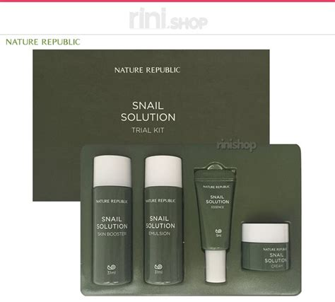 Harga Nature Republic Snail Solution Trial Kit nature republic snail solution trial kit rinishop ebay