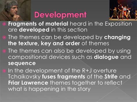 romeo and juliet theme development sonata form