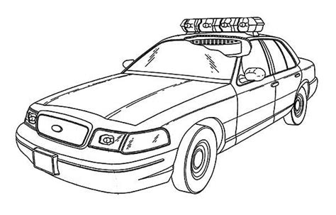 police coloring pages the policeman the car and the