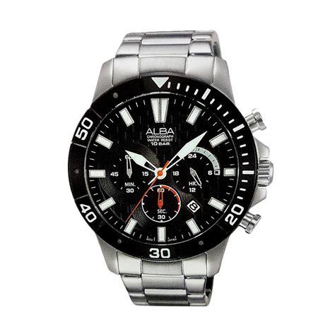 Jam Tangan Pria Quiksilver Date Crono On Stainliest jual alba chronograph at3a07 stainless steel jam tangan