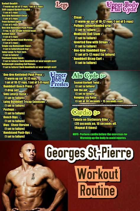 mma workout routine georges st