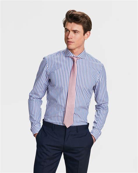 Cotton Slim Fit heren slim fit finest cotton overhemd 81356119 we fashion