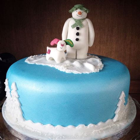 the snowman and the snowdog christmas cake the snowman