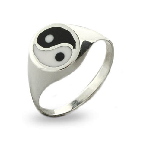 enamel sterling silver yin yang ring s addiction 174