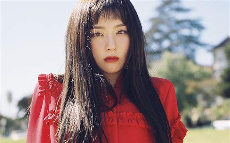 ho kpop girl red dress wallpaper