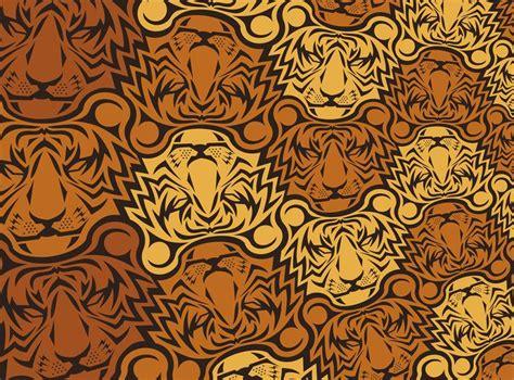 animal tessellations tiger tessellation on behance teselaciones