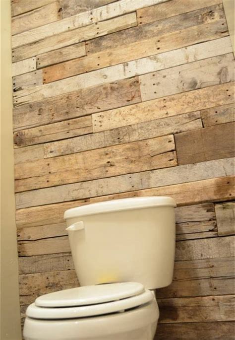 Pallet Wall Bathroom Diy Tutorial Pallet Bathroom Wall