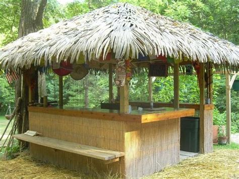Tiki Hut How To Build And Outdoor On Pinterest Backyard Tiki Hut