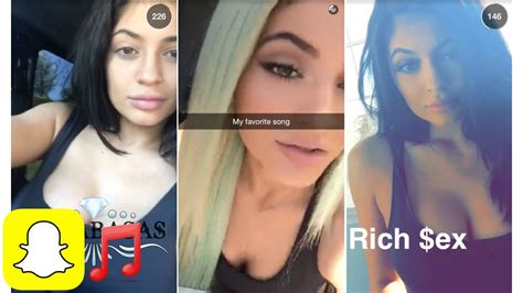 hot en snap kylie jenner song compilation snapchat kylie snaps youtube