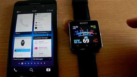 Smartwatch Z10 blackberry 10 and sony smartwatch