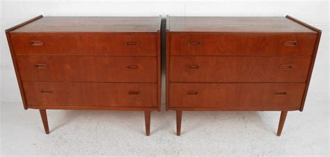 danish bedroom furniture pair of mid century modern danish teak bedroom dressers
