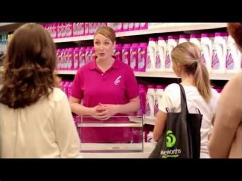 vanish napisan woolworths in store demonstration ad youtube