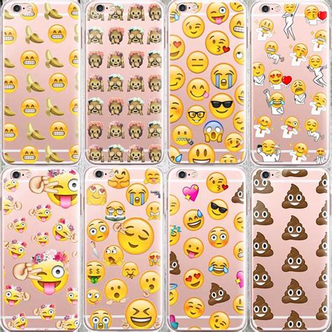aliexpress buy fashion lovely emoji for iphone 6 6s 5 5s se 7 7plus silicone