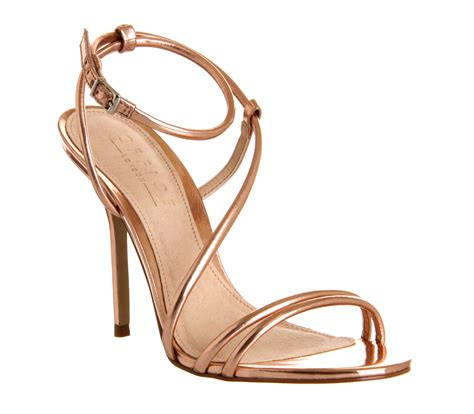 gold strappy sandal heels womens office jools strappy sandal gold heels ebay