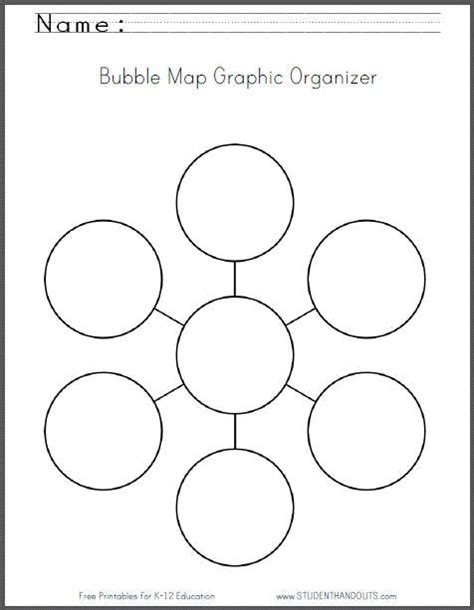 design graphic organizers free bubble map graphic organizer worksheet free to print