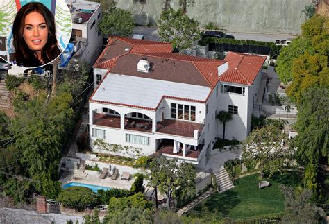 house fox teenage mutant ninja turtles star megan fox lists mediterranean style home star map