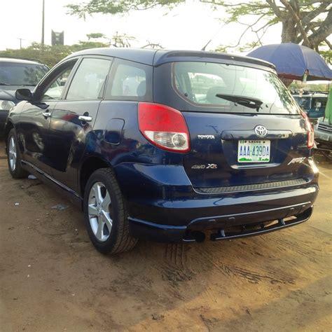 toyota matrix 2005 for sale 2005 toyota matrix registered for sale autos nigeria