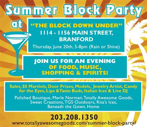 Branford Summer Block Party Block Flyer Template Summer