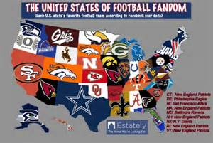 Nfl Team Map Of The United States by Which Football Team Is The Favorite In Illinois