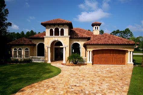 Tuscan Style One Story Homes Tuscan Style House Plans Exterior Home Plans