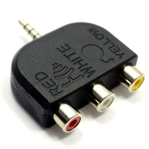 Tv Out 3 5mm to 3 phonos 4 pole av out tv adapter converter psg02787 kenable for hdmi optical