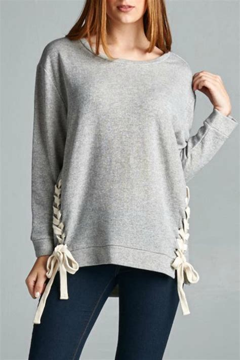 Lace Up Sweatshirt ellison lace up sweatshirt from new jersey by waves