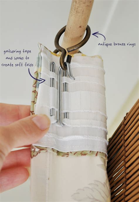 how to use ikea curtain hooks the painted hive quilt cover curtains and a faux bamboo