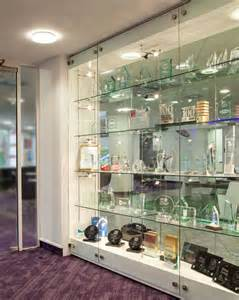Modern Built In Display Cabinet Glass Trophy Cabinets Custom Made And Installed Shopkit