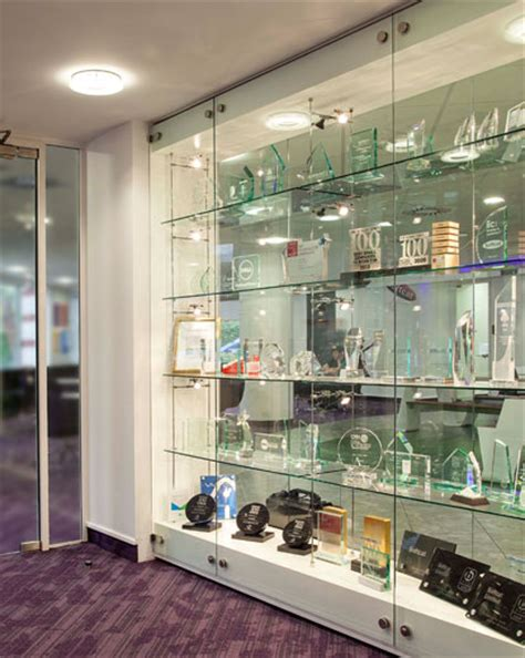 trophy display cabinets with glass doors glass trophy cabinets custom made and installed shopkit