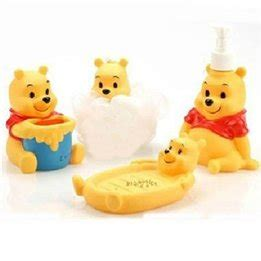 winnie the pooh bathroom set amazon com 4pcs winnie the pooh rotocast bath accessory set electronics
